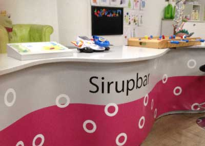 Sirupbar in cut & sirup Kindercoiffeur